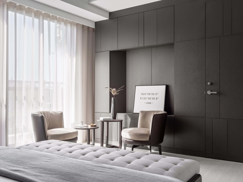 分子室內裝修設計Moleinterior-台中室內設計透天住宅設計-主臥室規劃