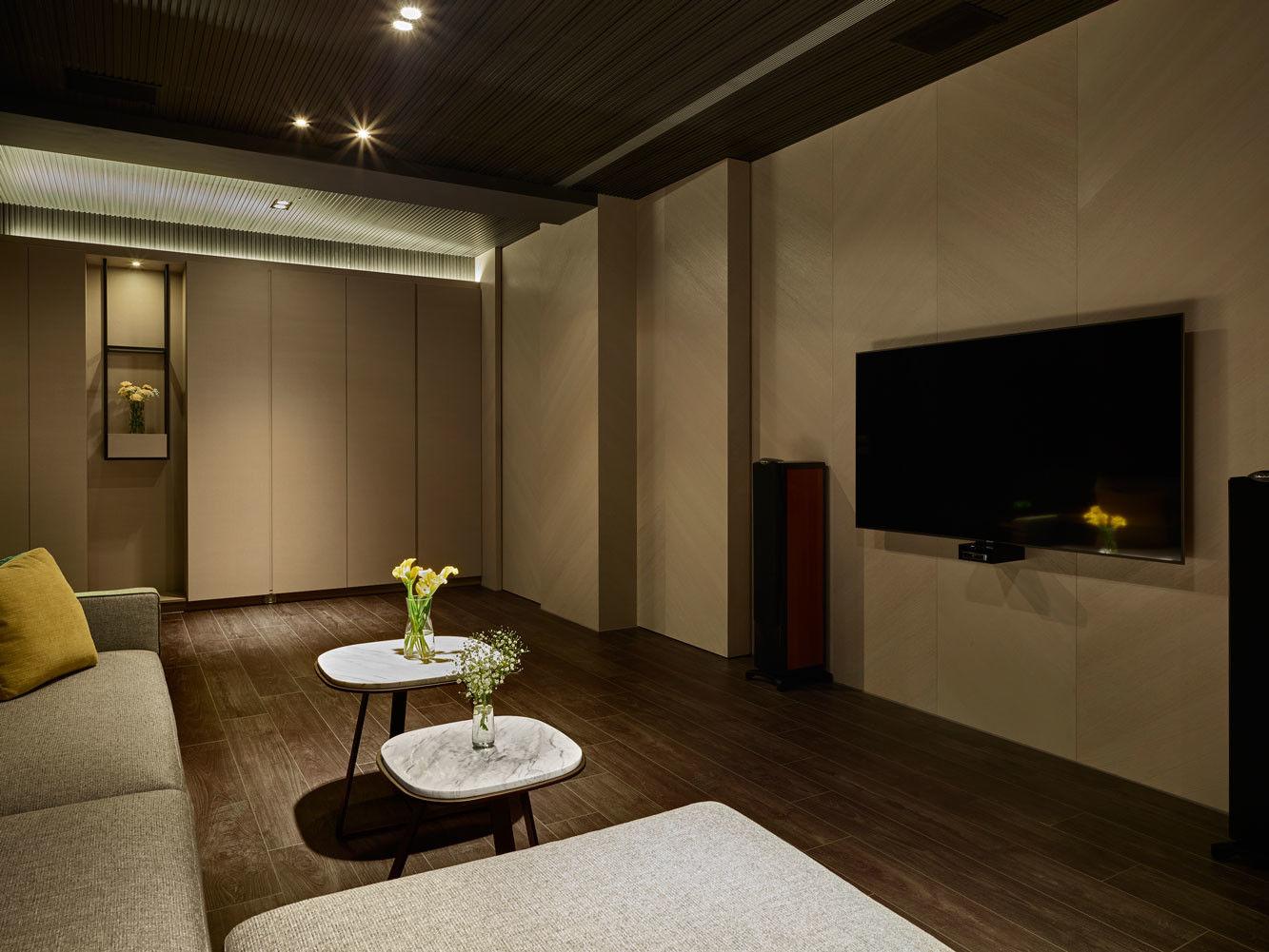 分子室內裝修設計-住宅空間設計作品-視聽室