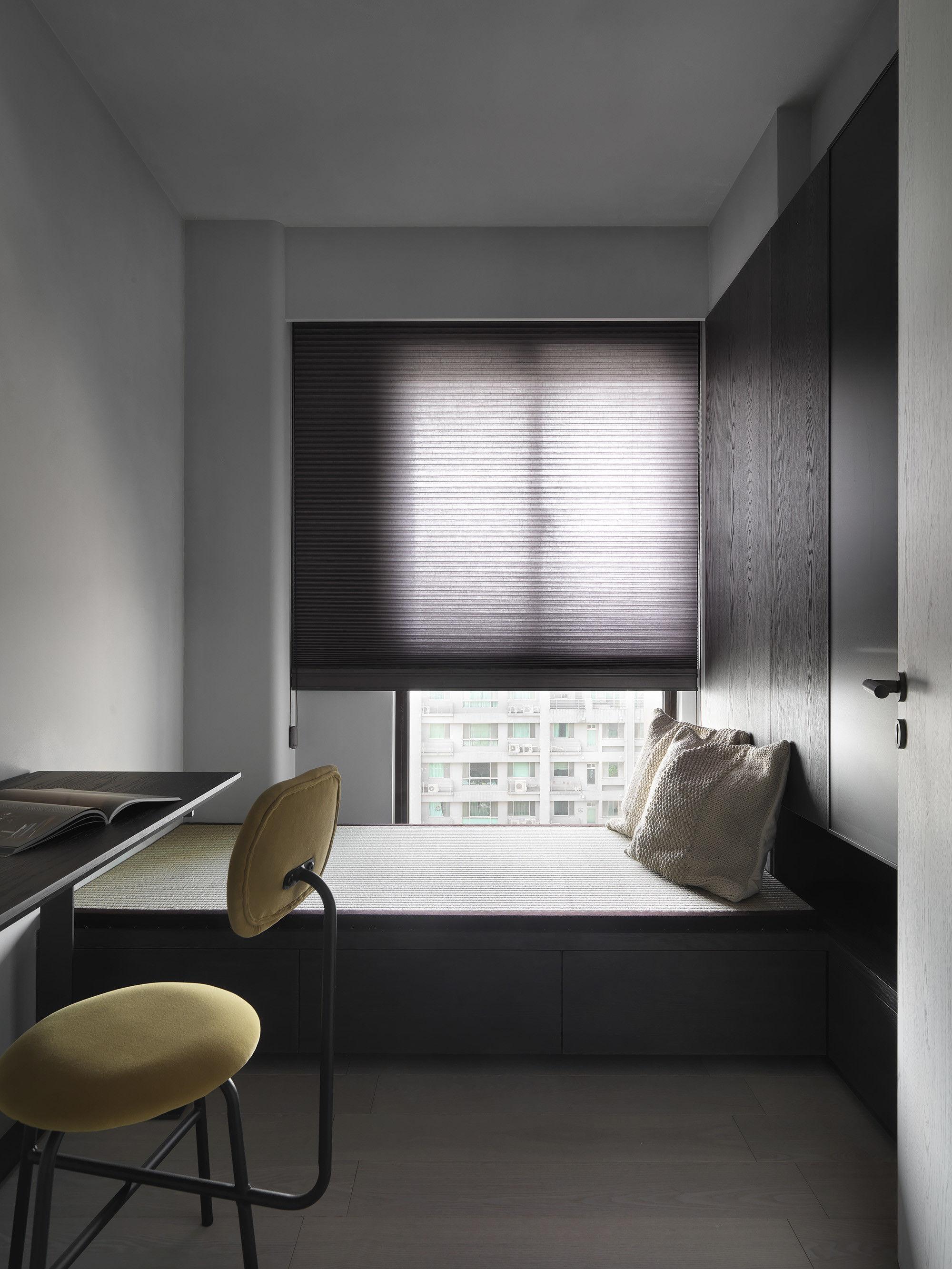 台中 分子室內裝修設計 - 單層電梯大樓 - 現代風住宅設計 - 全室舊屋翻新 - 臥榻