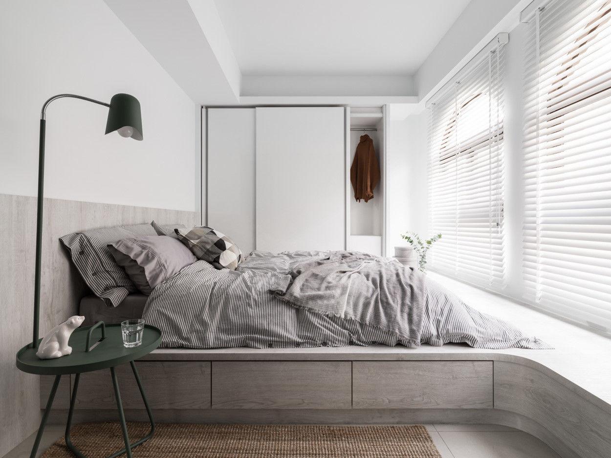 分子室內裝修設計Moleinterior- 台中室內設計透天住宅設計-現代風臥榻收納臥室