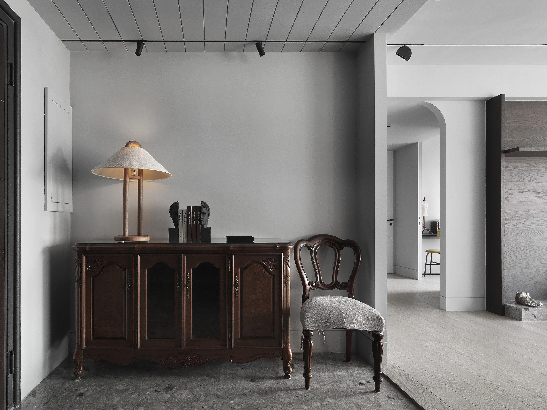 台中 分子室內裝修設計 - 單層電梯大樓 - 現代風住宅設計 - 全室舊屋翻新 - 玄關