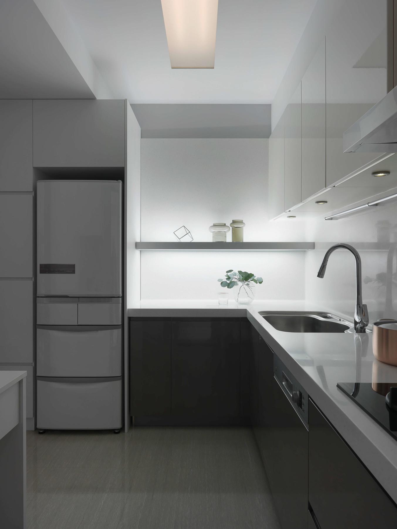 分子室內裝修設計-住宅空間設計作品 Shades of Grey 廚房