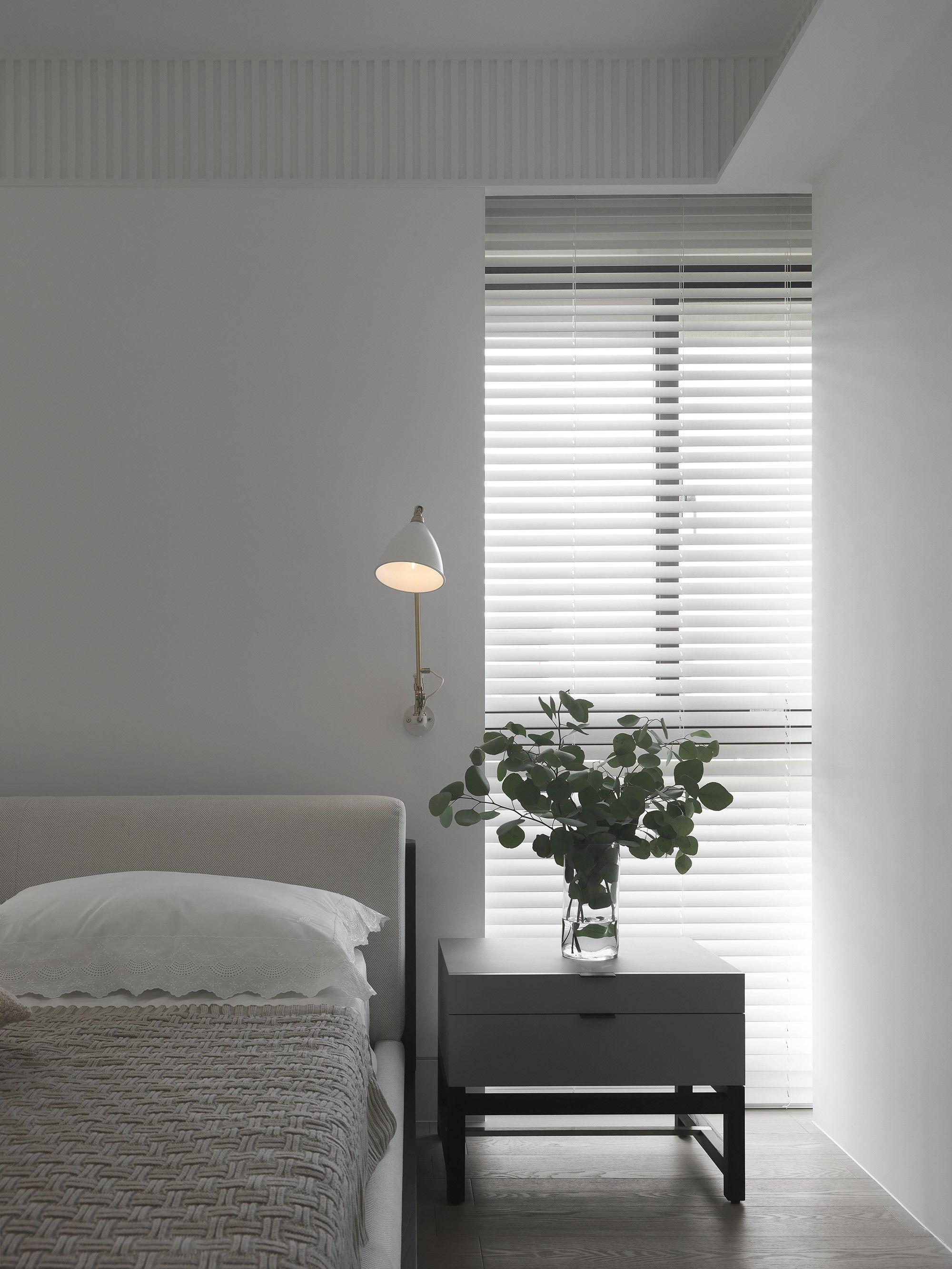 台中 分子室內裝修設計 - 單層電梯大樓 - 現代風住宅設計 - 全室舊屋翻新 - 臥室北歐燈具