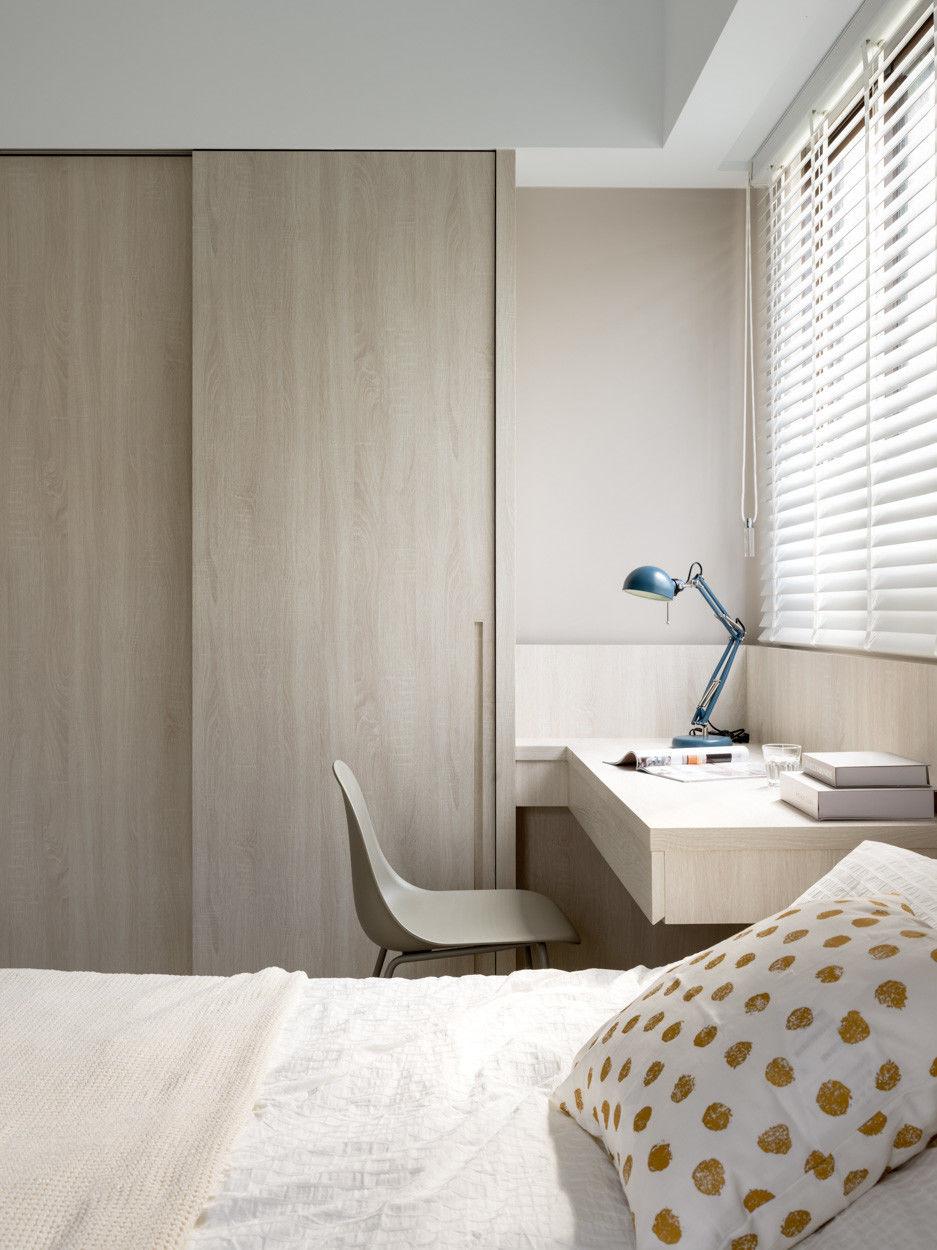 分子室內裝修設計Moleinterior- 台中室內設計透天住宅設計-現代風簡約臥室