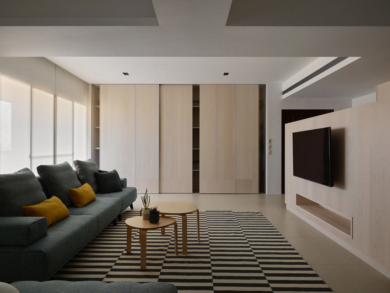 分子室內裝修設計 - 住宅設計 - House on A Hill - 客廳隱藏式收納