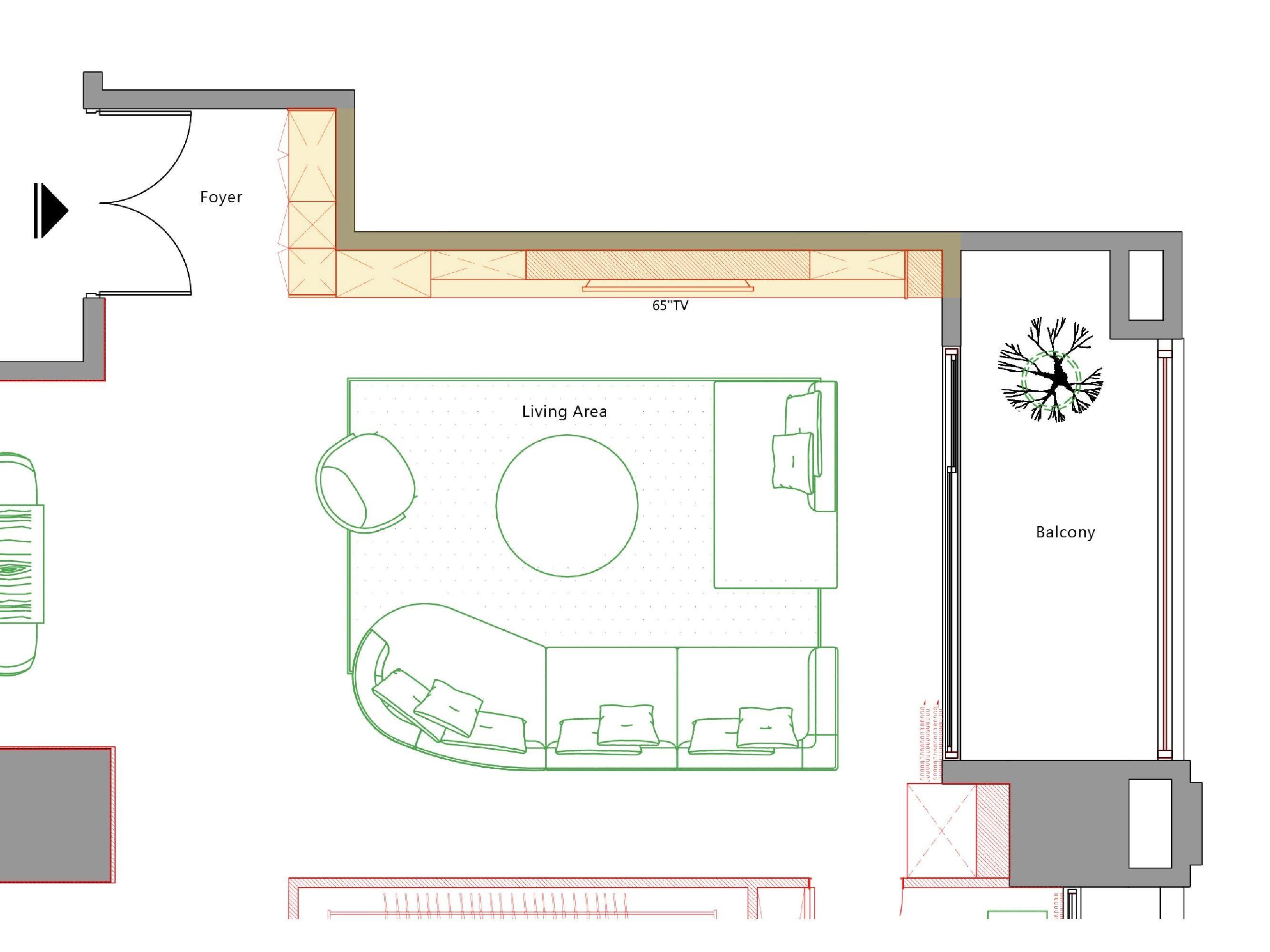 台中室內設計-現代風設計師、整體空間規劃、平面圖細節