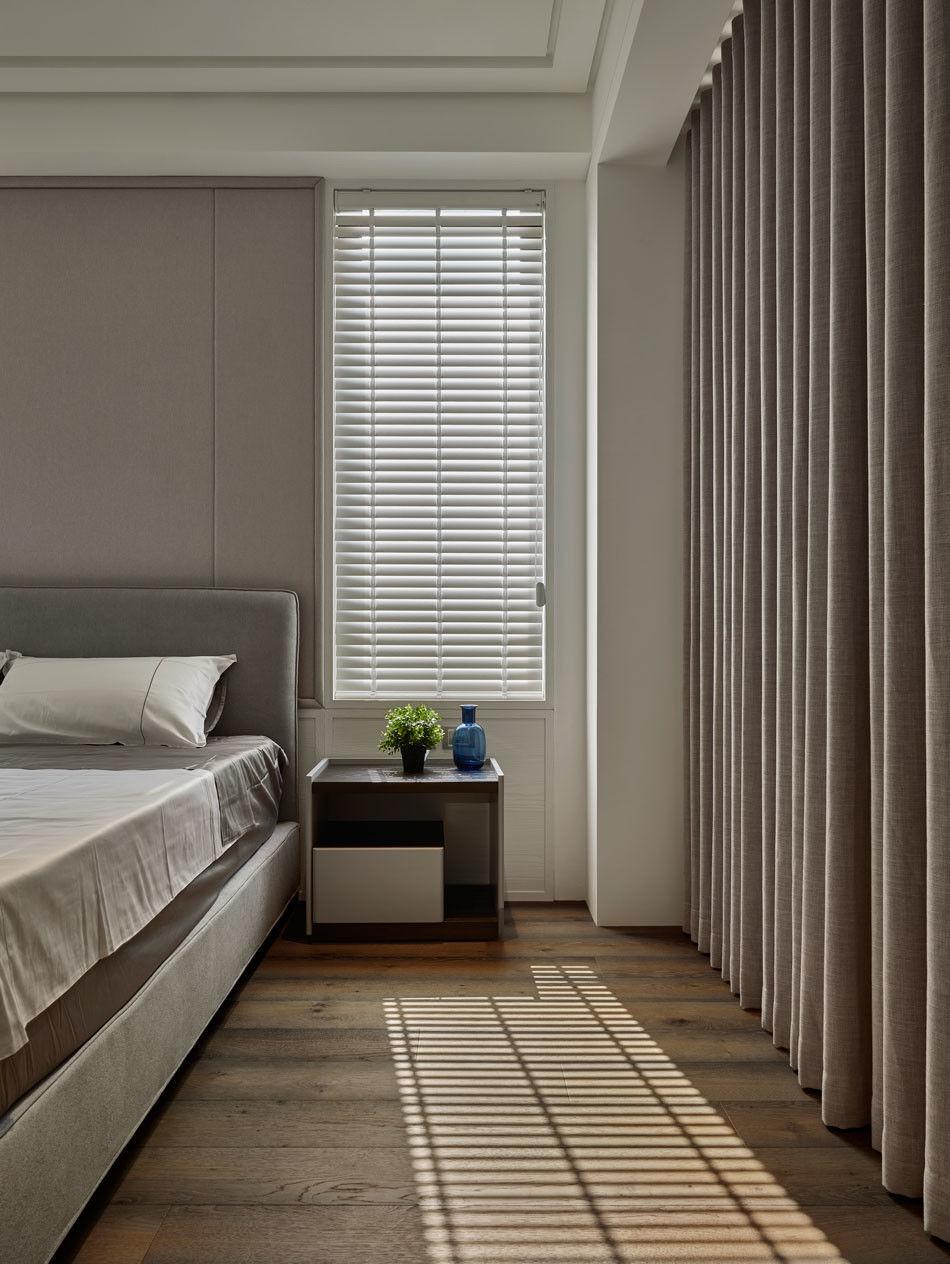 分子室內裝修設計-住宅空間設計作品-臥室床2