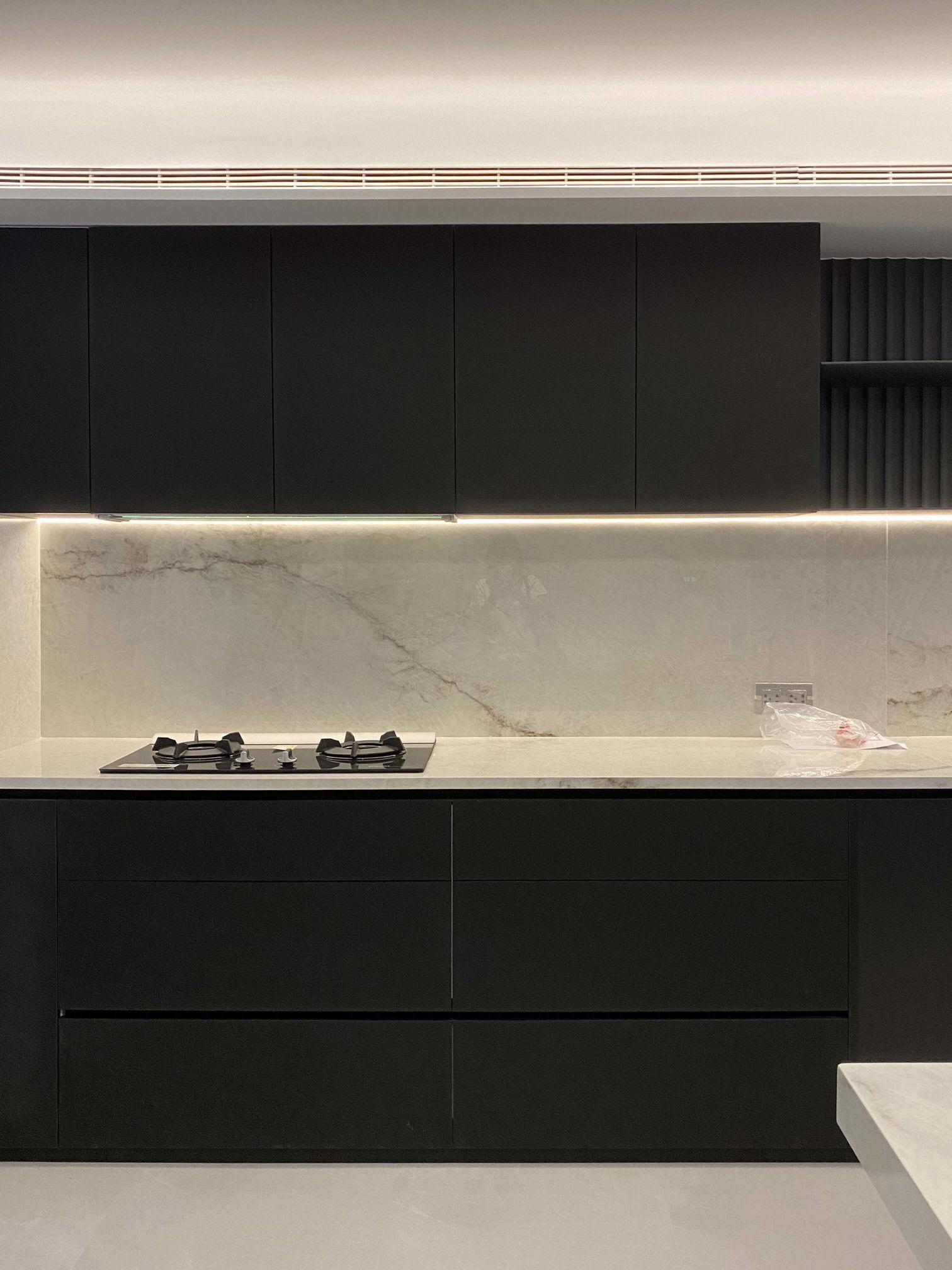 分子室內裝修設計-FENIX板材運用-智慧新科技-熱修復-輕食區中島廚具
