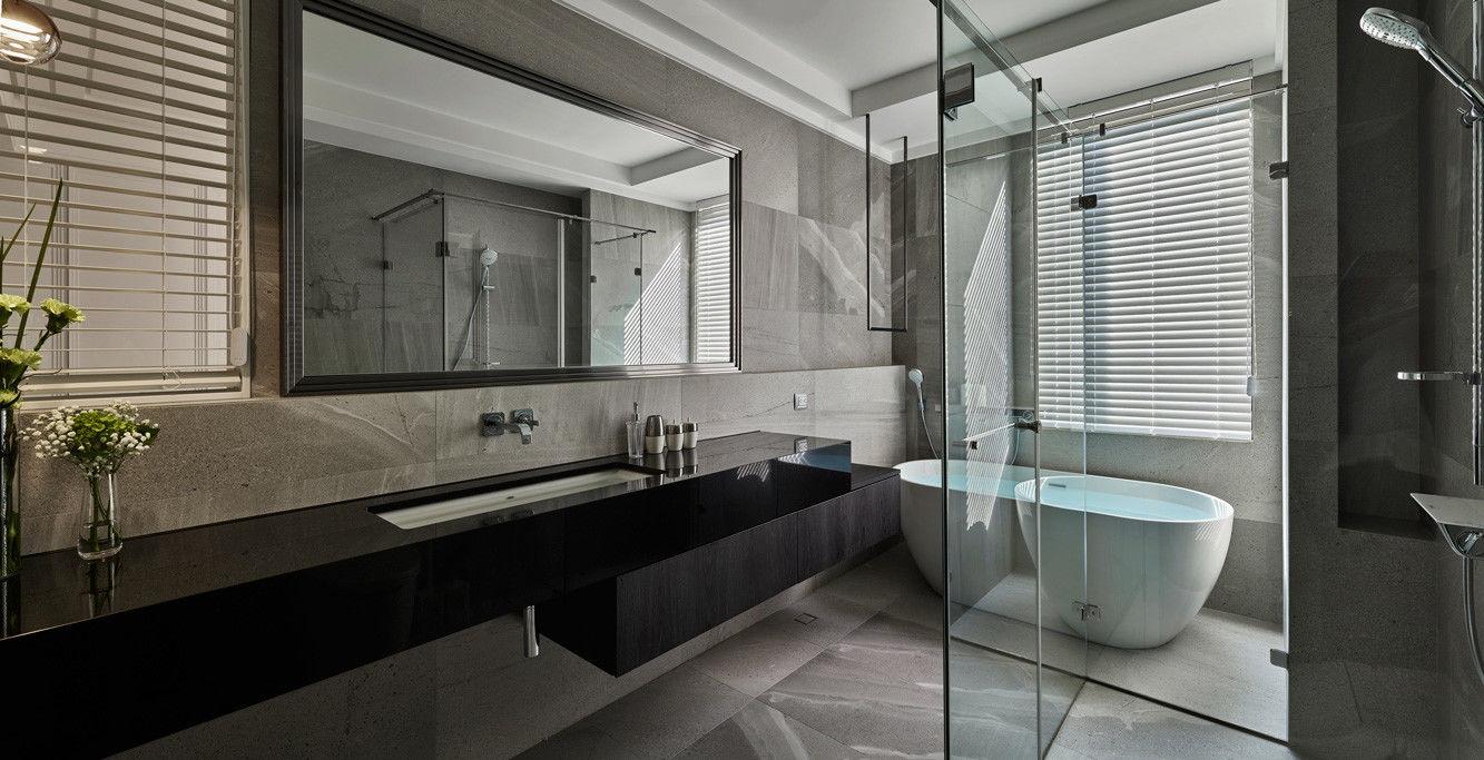 分子室內裝修設計-住宅空間設計作品-衛浴