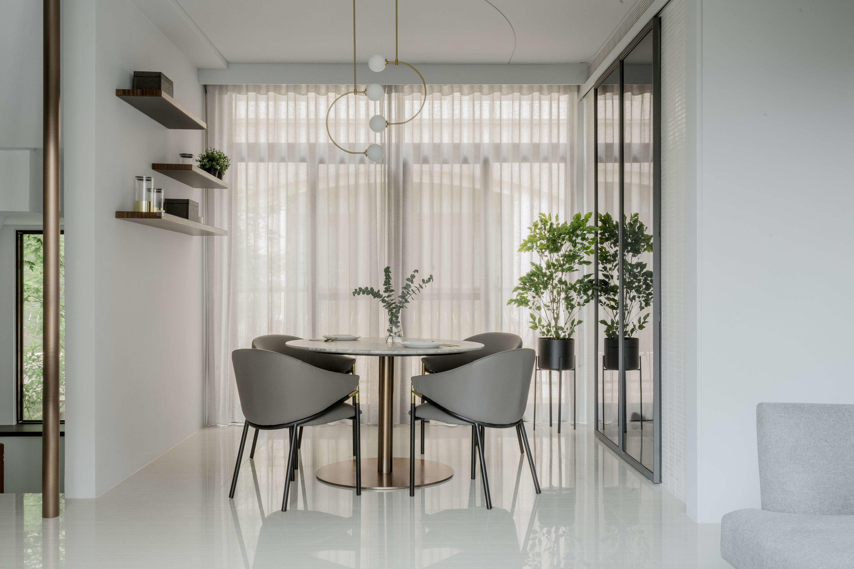 分子室內裝修設計Moleinterior-台中室內設計透天住宅設計-訂製餐桌