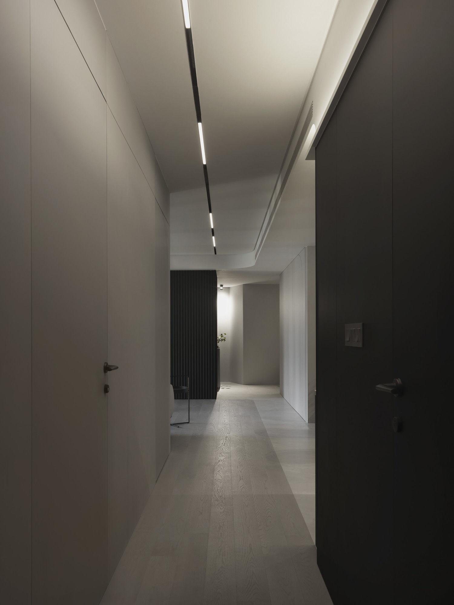 台中分子設計-現代風、輕美式設計師-台中七期室內設計-電梯大樓整體規劃-客廳廊道