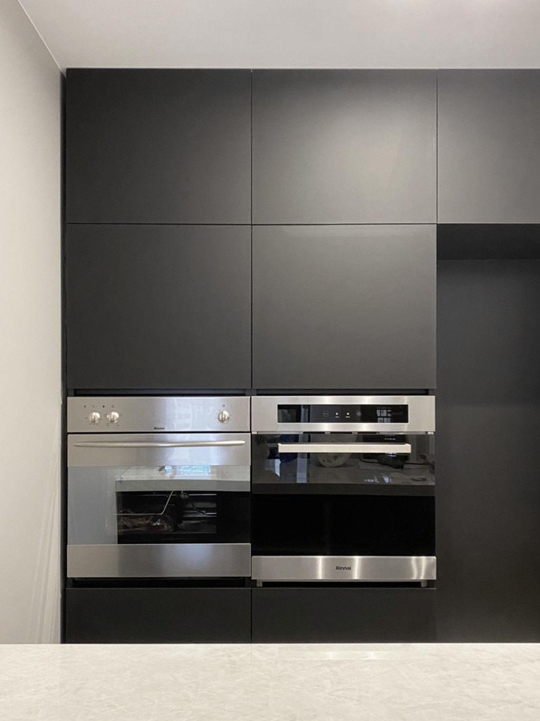 分子室內裝修設計-FENIX板材運用-智慧新科技-熱修復-輕食區電器櫃