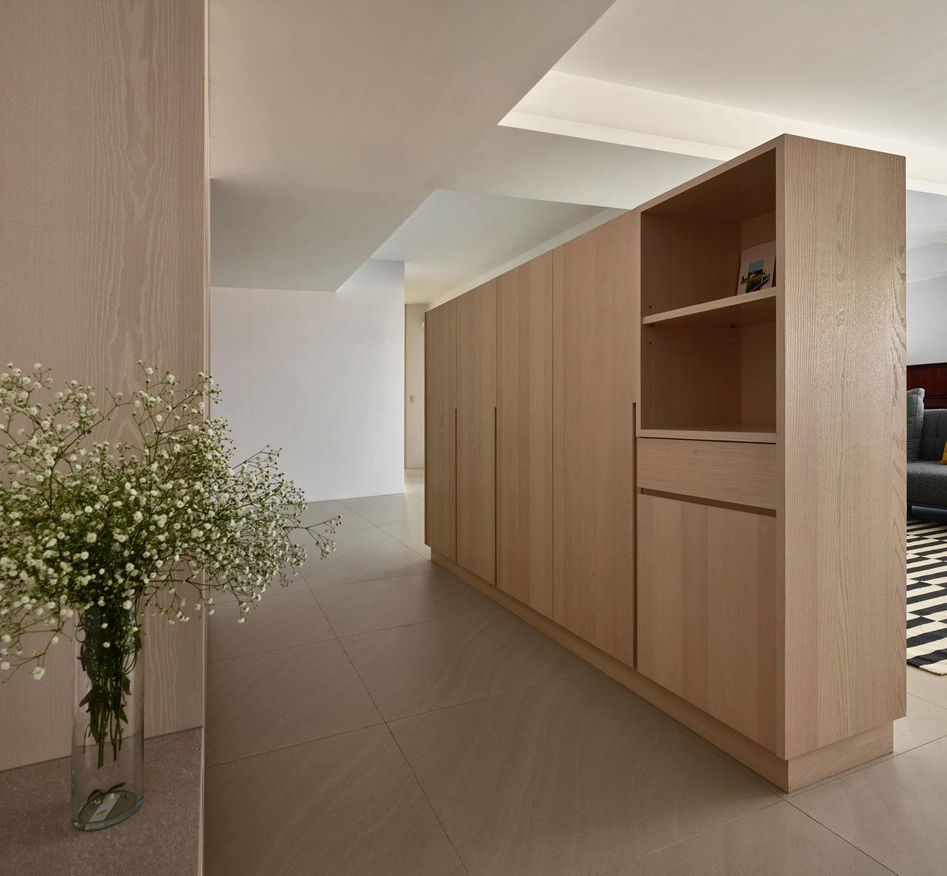 分子室內裝修設計 - 住宅設計 - House on A Hill - 客廳電視櫃收納