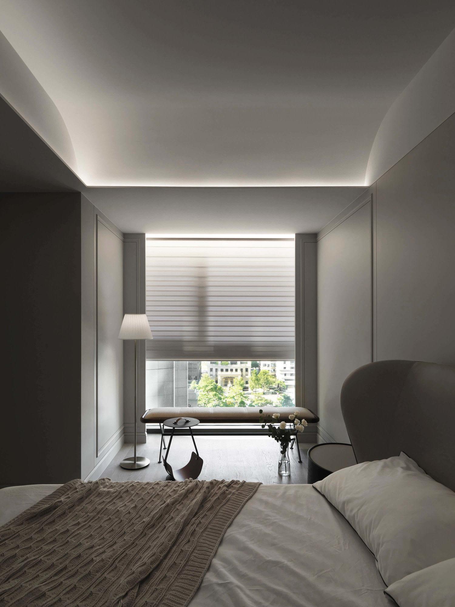 台中分子設計-現代風設計師-台中七期室內設計-電梯大樓整體規劃-臥室線板設計