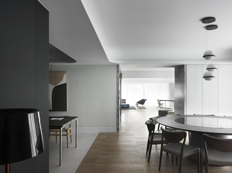 台中大坪數住宅裝修 - 台中七期住宅設計 - 客廳規劃設計 - 分子室內裝修設計