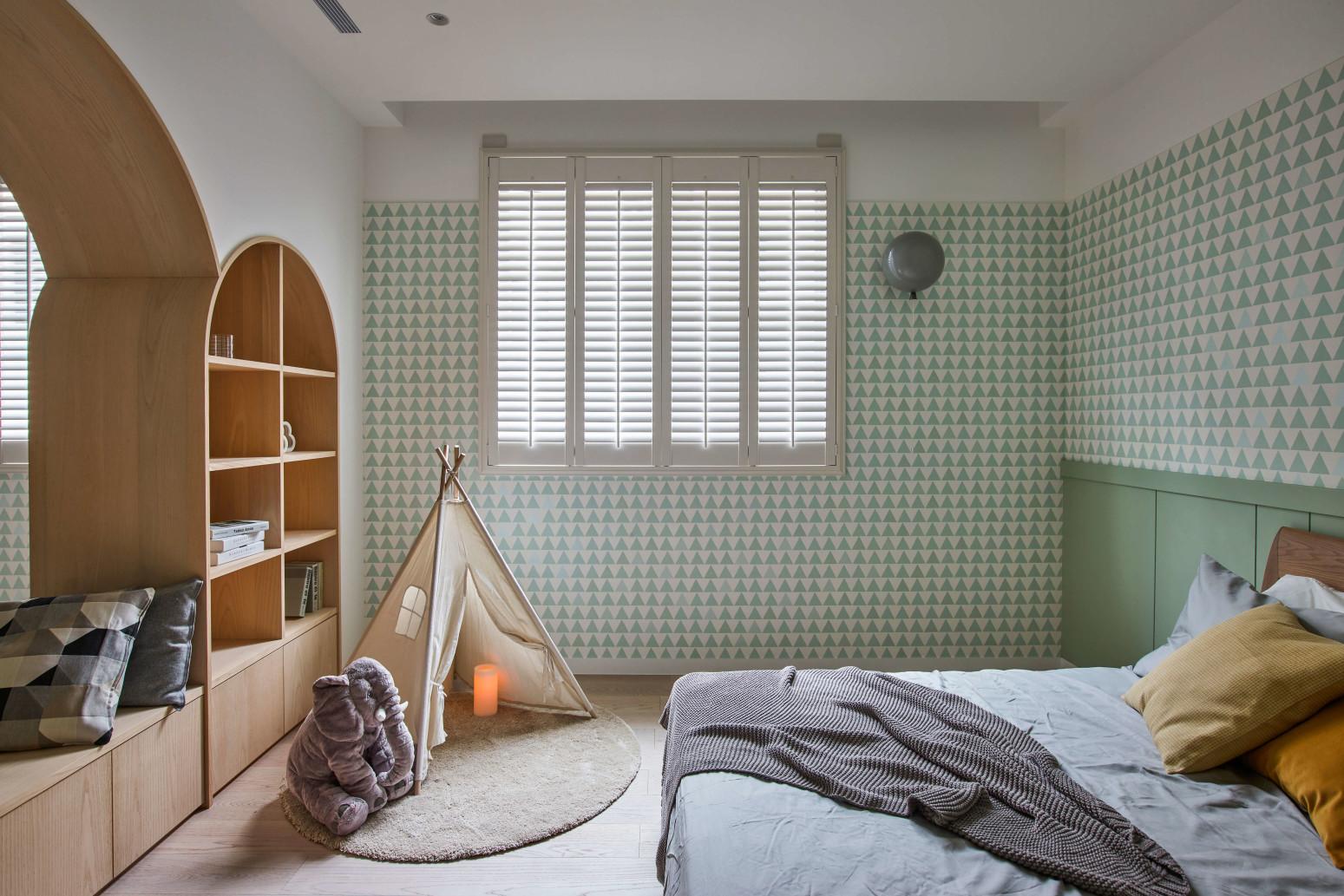 台中分子室內裝修設計 - 裝修住宅設計 - 自地自建 - 兒童臥室-小孩房