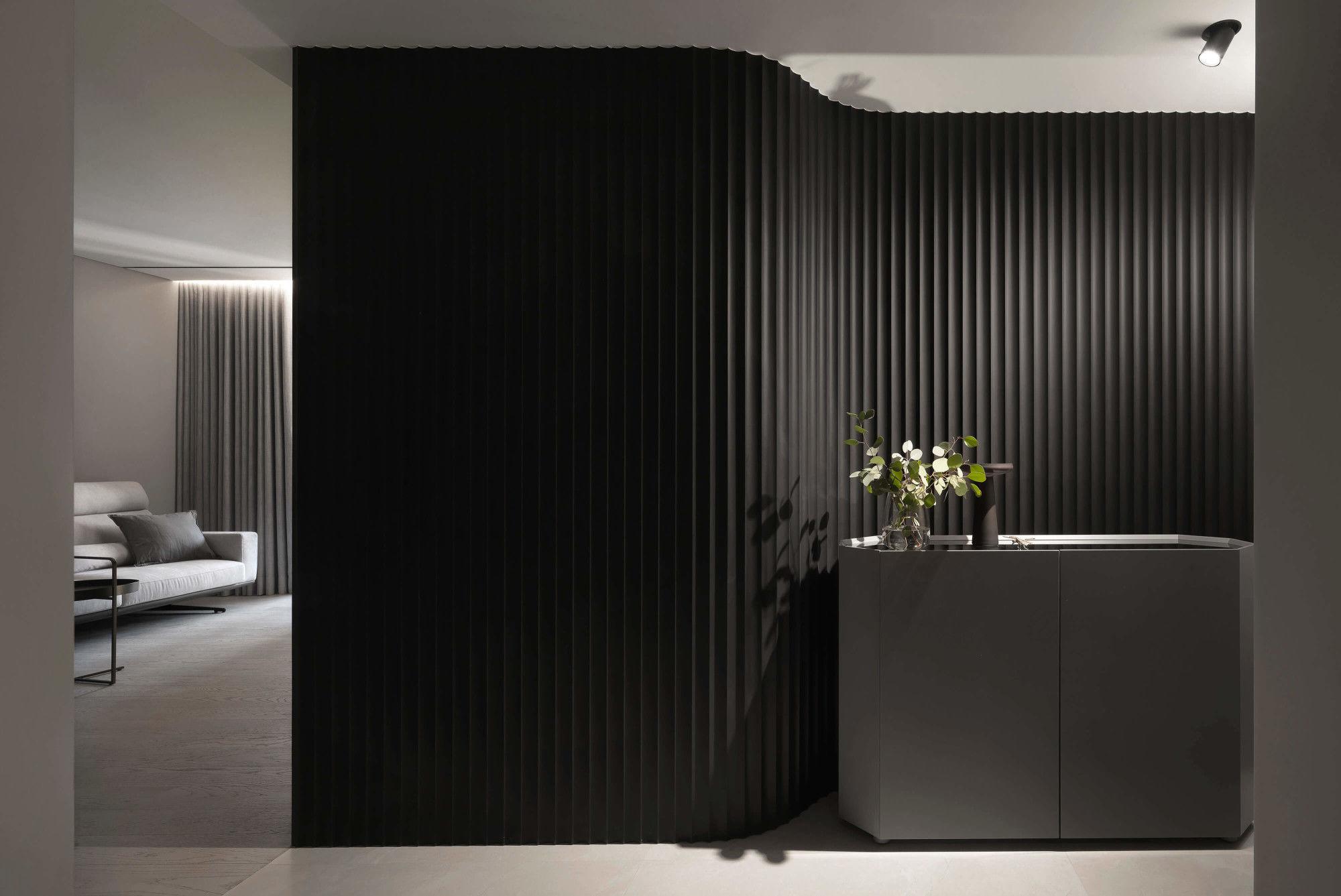 台中分子設計-現代風設計師-台中七期室內設計-電梯大樓整體規劃-造型玄關設計