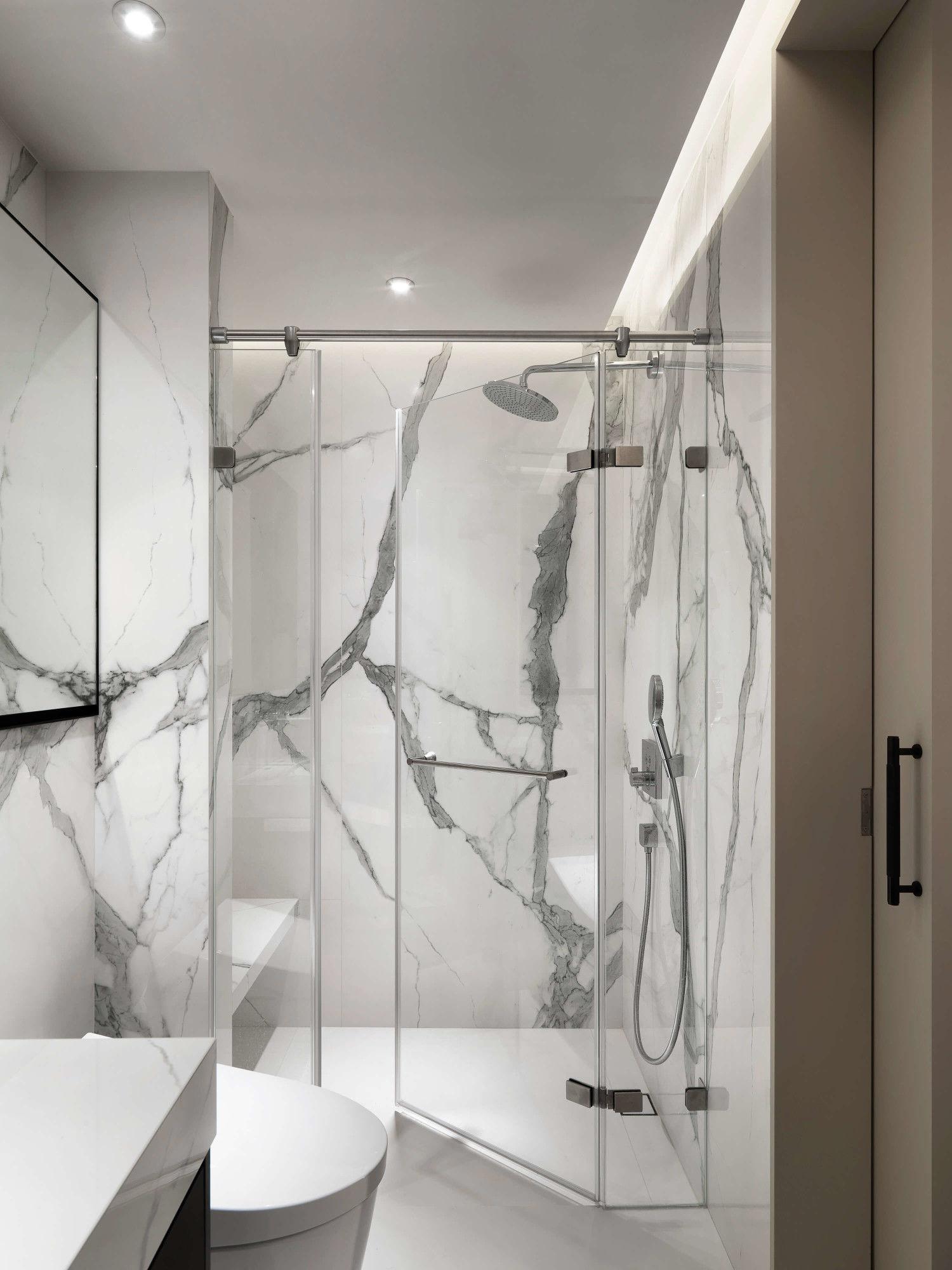 分子室內裝修設計-台中七期現代風格-毛胚衛浴空間、石材薄磚