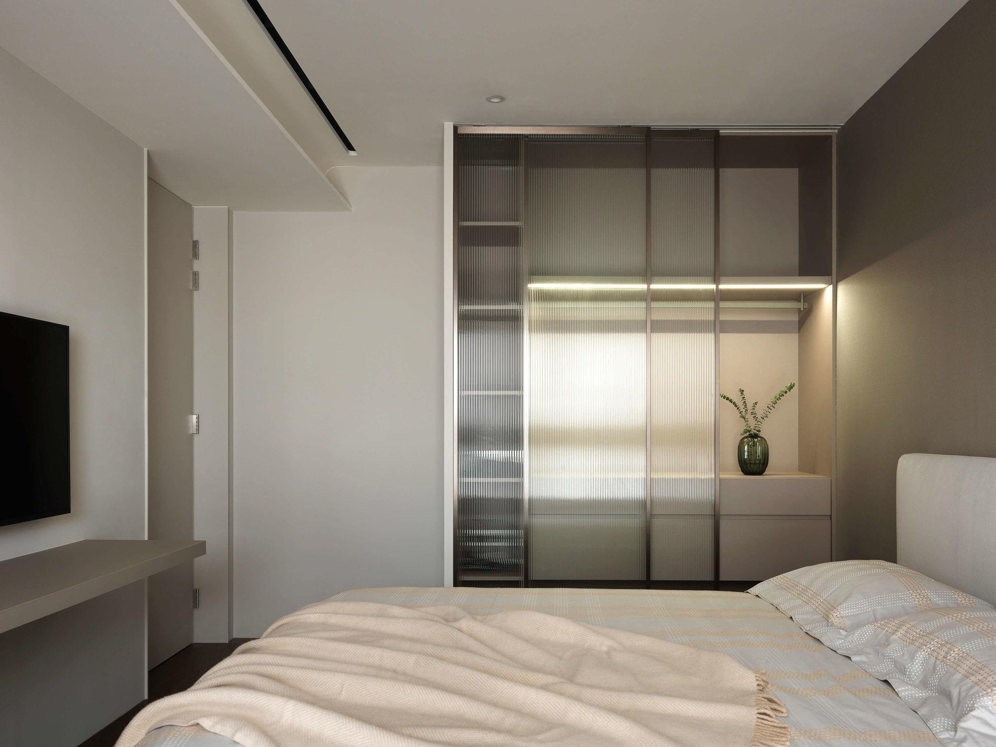 分子室內裝修設計-台中七期現代風格-臥室空間設計、現代俐落