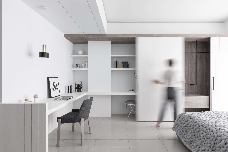 分子室內裝修設計Moleinterior-台中室內設計透天住宅設計-臥室收納小孩房