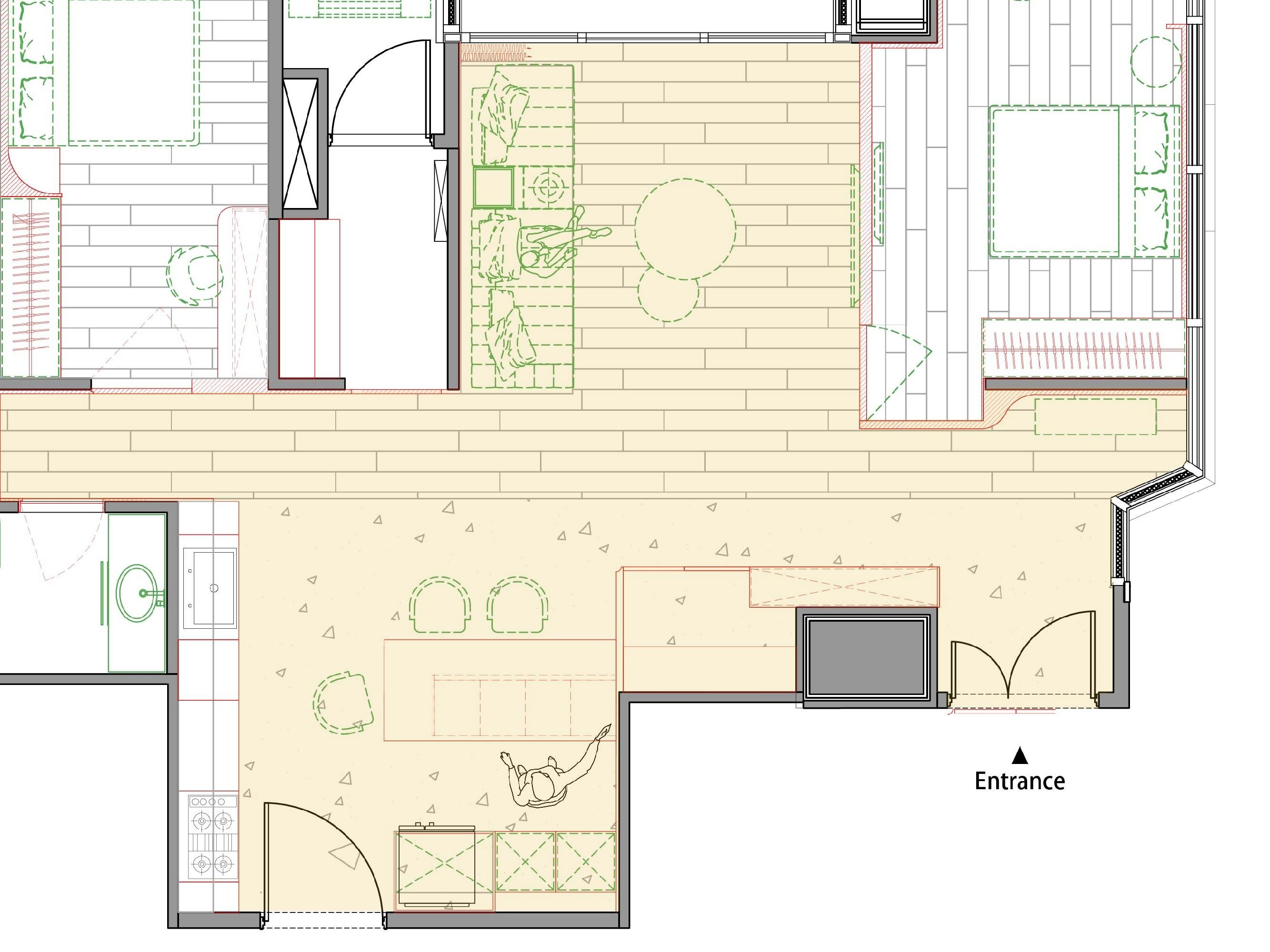 分子室內裝修設計-住宅空間規劃-現代風格-平面規劃圖
