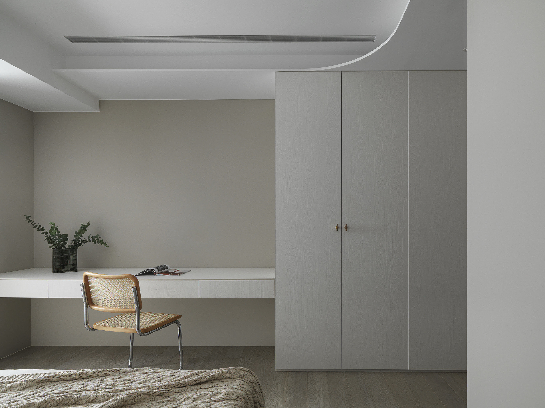 台中 分子室內裝修設計 - 單層電梯大樓 - 現代風住宅設計 - 全室舊屋翻新 - 臥室