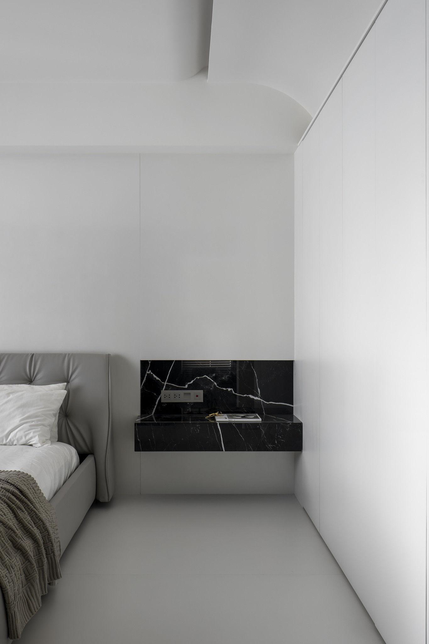 分子室內裝修設計-現代極簡風、台中室內裝修、室內設計、珍珠漆牆面、個性臥室、霧黑色