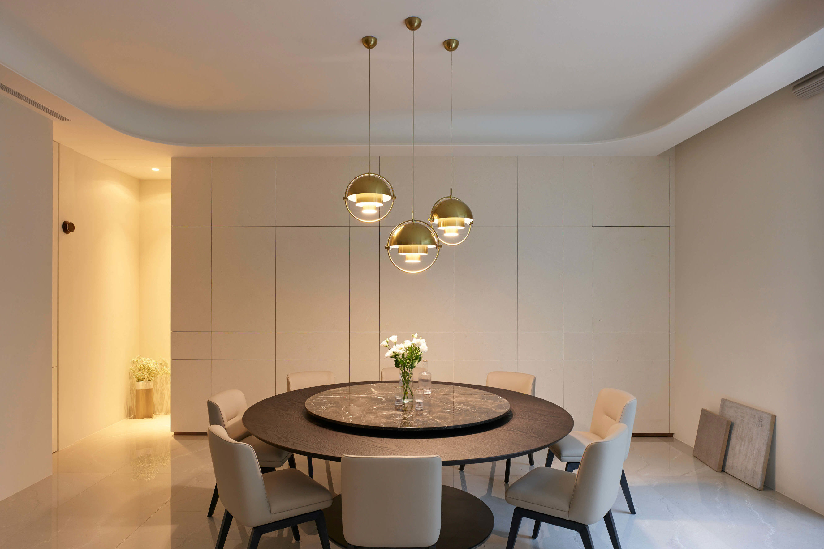台中分子室內裝修設計 - 裝修住宅設計 - 自地自建 - 客餐廳