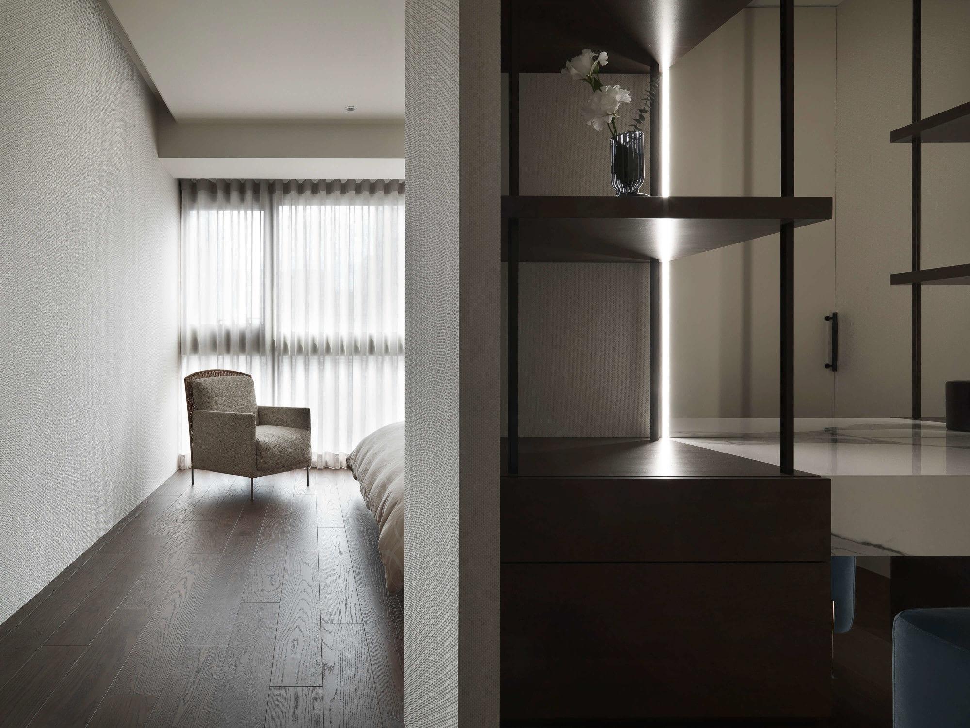 分子室內裝修設計-台中七期現代風格-主臥室空間設計、化妝桌