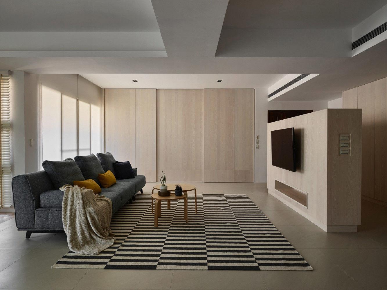 分子室內裝修設計 - 住宅設計 - House on A Hill - 客廳電視牆設計