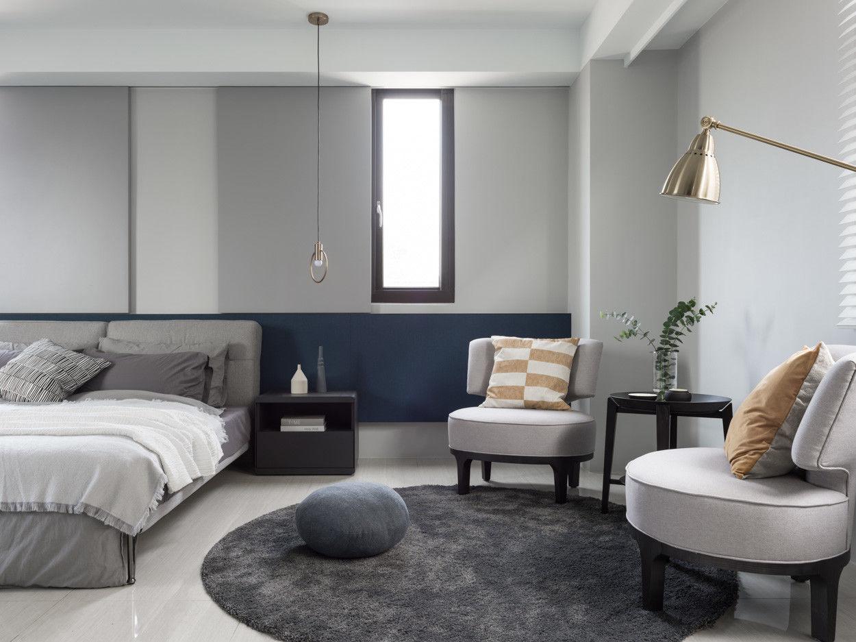 分子室內裝修設計Moleinterior- 台中室內設計透天住宅設計-現代風主臥室