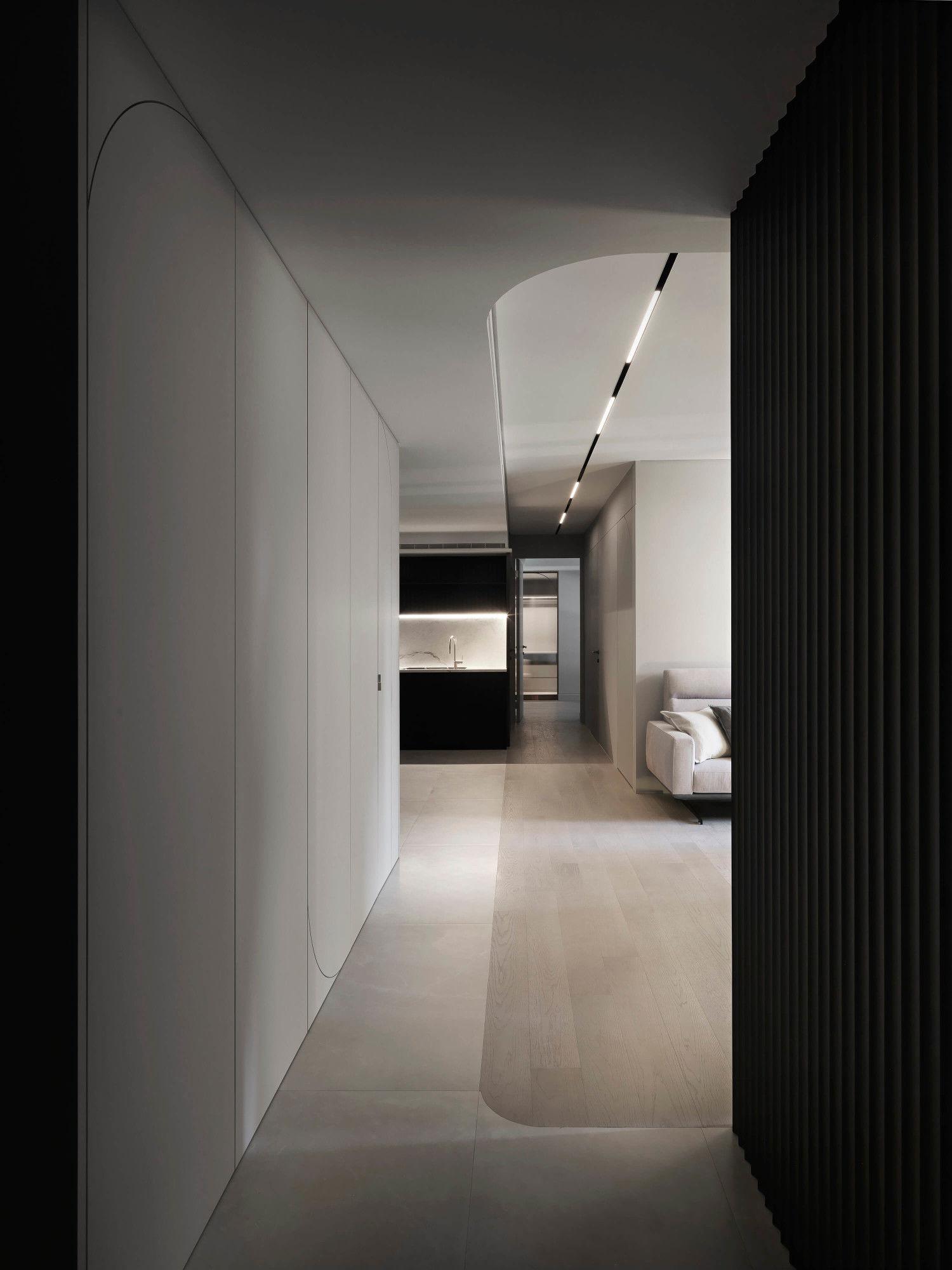 台中分子設計-現代風設計師-台中七期室內設計-電梯大樓整體規劃-客廳、地板拼接