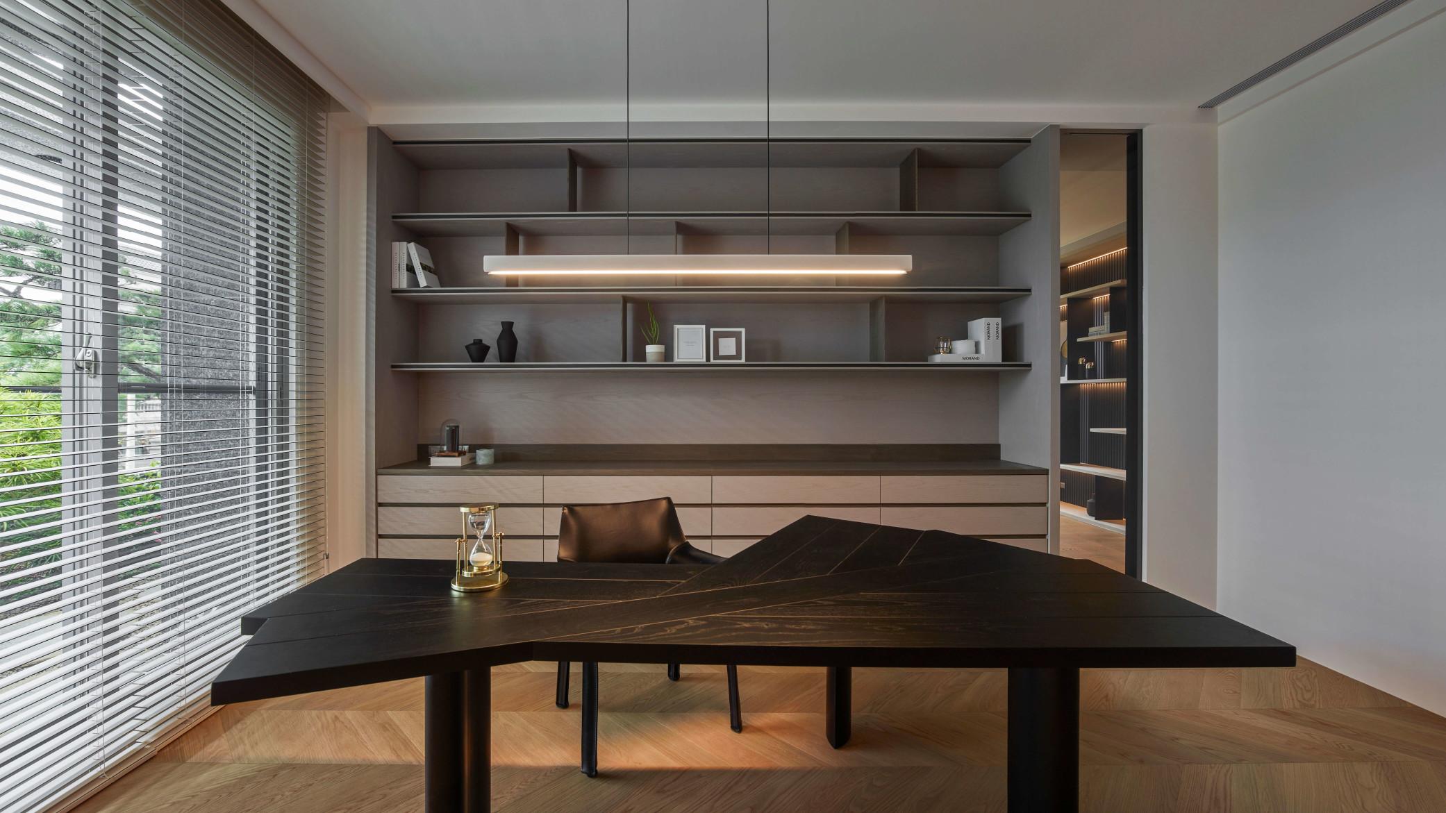 台中分子室內裝修設計 - 裝修住宅設計 - 自地自建 - 書房閱讀空間