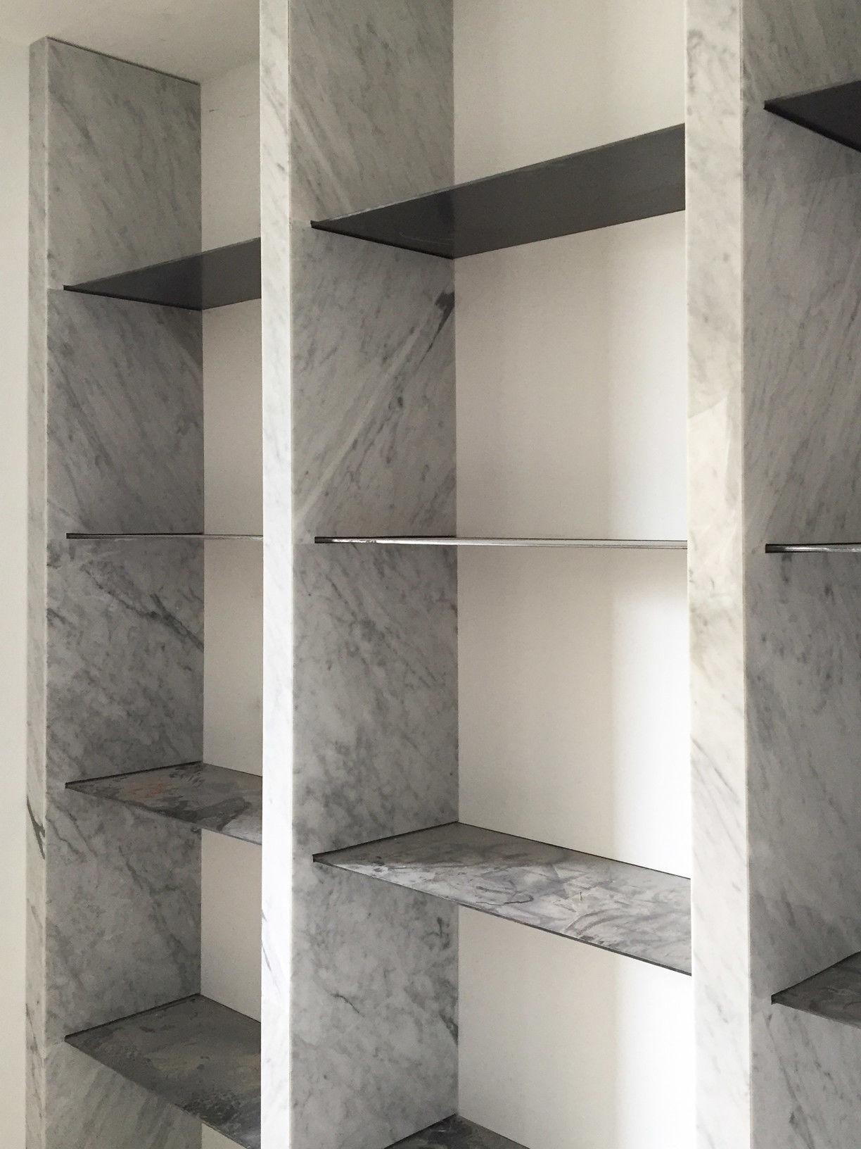 分子室內裝修設計 - 台中新成屋裝修 - 石材展示櫃施工照