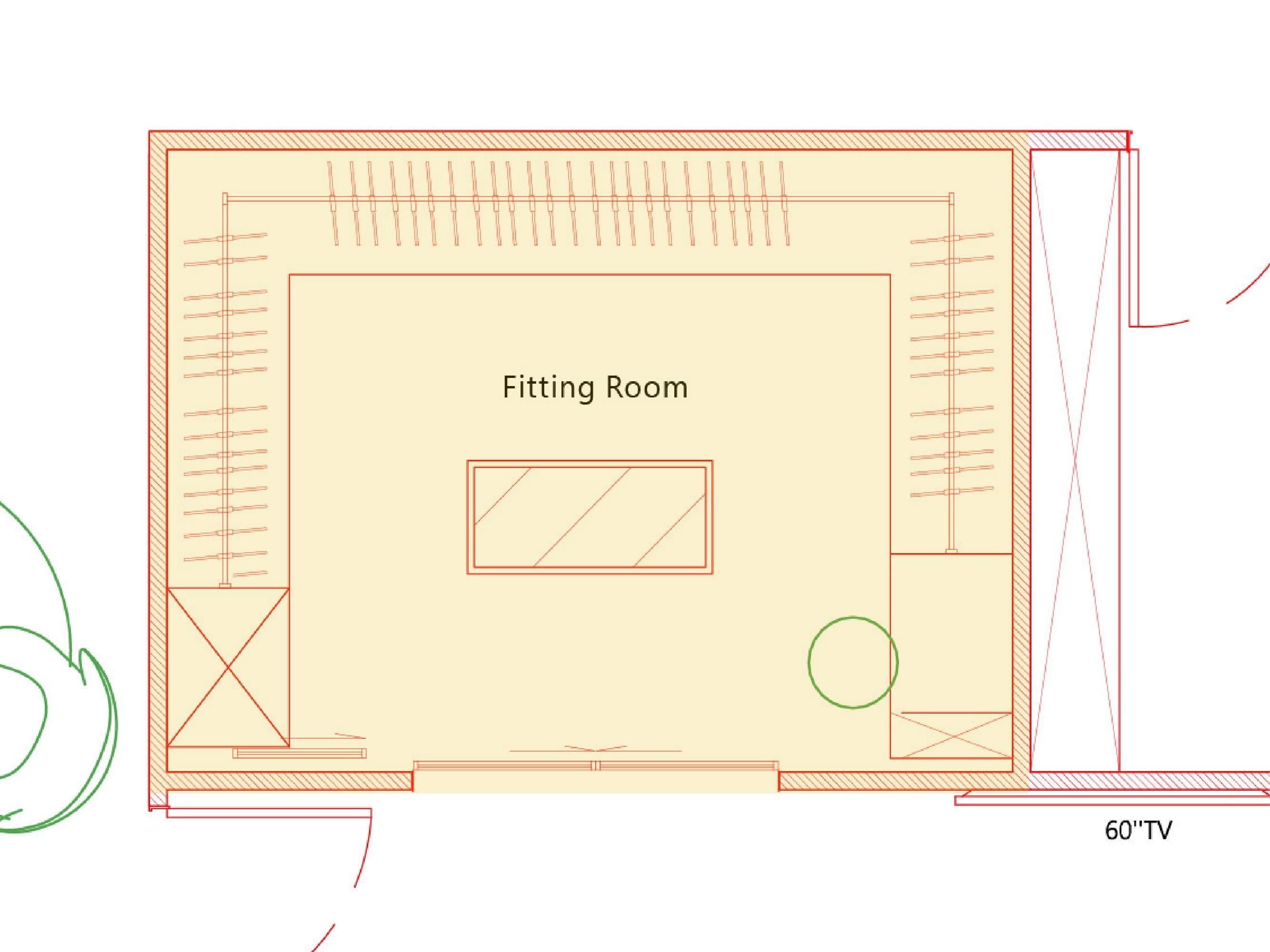 台中室內設計-現代風設計師、整體空間規劃、更衣間平面圖細節