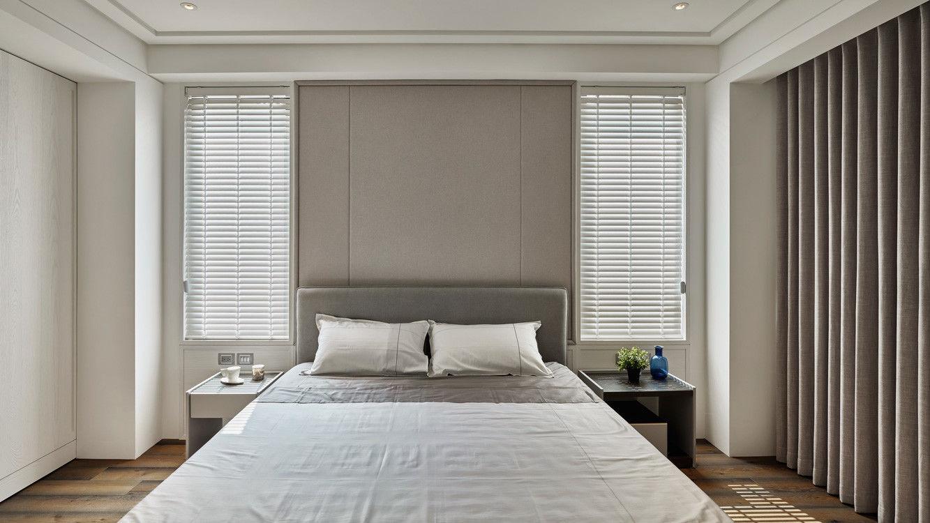 分子室內裝修設計-住宅空間設計作品-臥室床