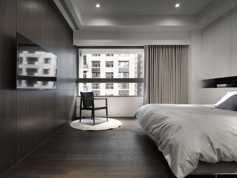 分子室內裝修設計-台中七期住宅-住宅裝修設計-主臥室