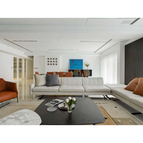 台中大坪數現代簡約室內設計,成就機能美學的溫暖住宅